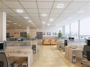 Фотография освещенного офиса